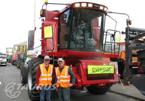 Shipping a Case Combine Harvester